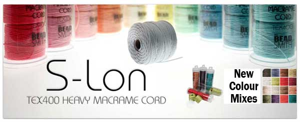 S-Lon - New Colour Srtinging Supplies, Bead Embroidery