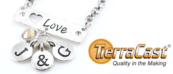 Tierracast Alphabet Charms, UK Bead Shop