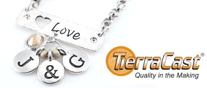Tierracast Alphabet Charms, UK Bead Shop