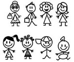 Stick Family Figures