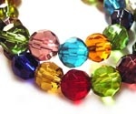 Round Faceted Beads
