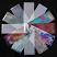 Rainbow Foil Transfer Sheets,4x160mm, x12pc. 2