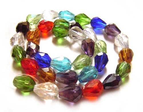 Imperial Crystal Drop Beads 7.5x5.5mm Soup Mix x35 b