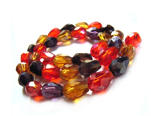 Imperial Crystal Drop Beads 7.5x5.5mm Volcano Mix x35