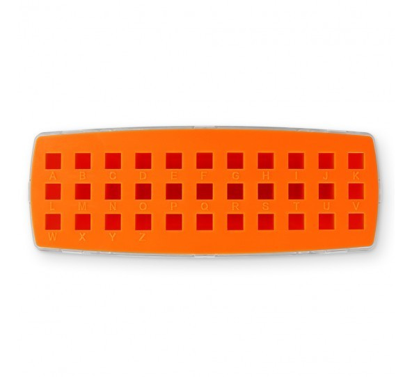 ImpressArt Storage Box Case for 3mm Alphabet Letter Sets - Orange 2