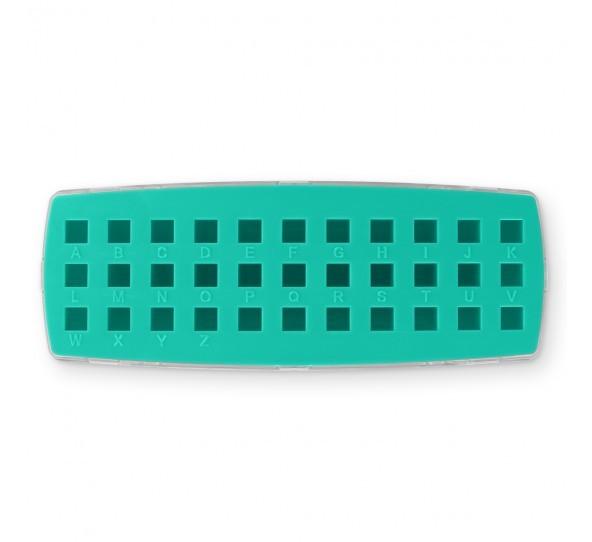 ImpressArt Storage Box Case for 3mm Alphabet Letter Sets - Teal 2