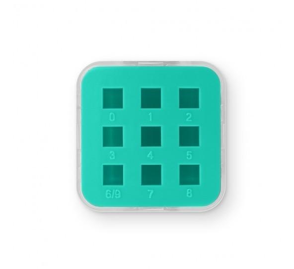 ImpressArt Storage Box Case for 4mm Number Sets - Teal 2