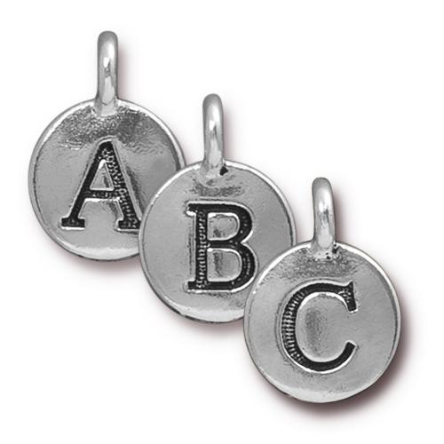 TierraCast Pewter Silver Plated Alphabet Charm, Full Set of Letters (26pc)