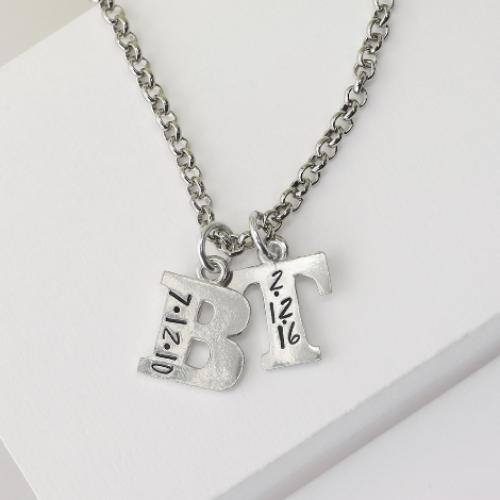 Pewter Soft Strike Alphabet Letter Z 3/4 inch Charm Example B