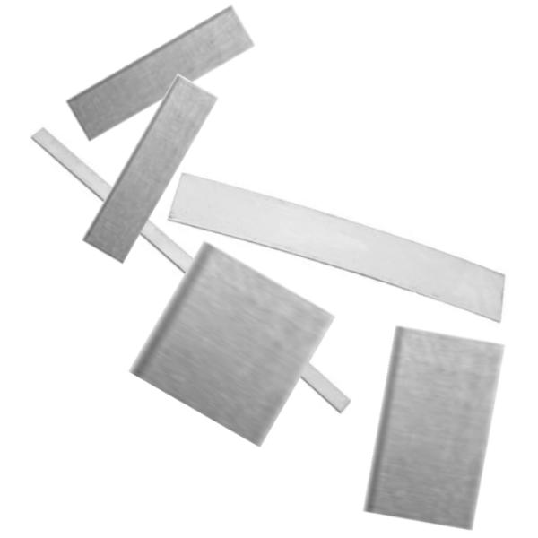 Aluminium Rectangle & Square ASSORTED SIZES Practice Stamping Blanks x6pc