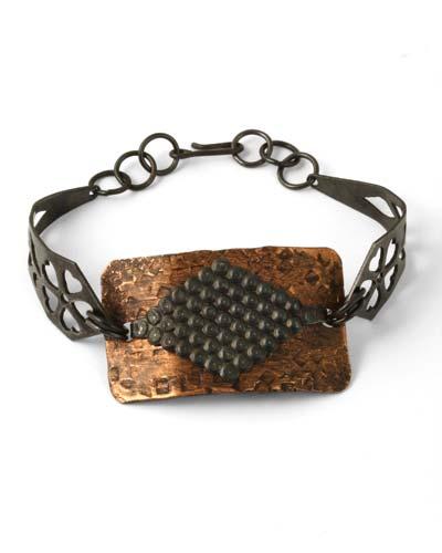 Vintaj Aristan Copper 40x23mm Metal Bracelet Blank Rectangle 1