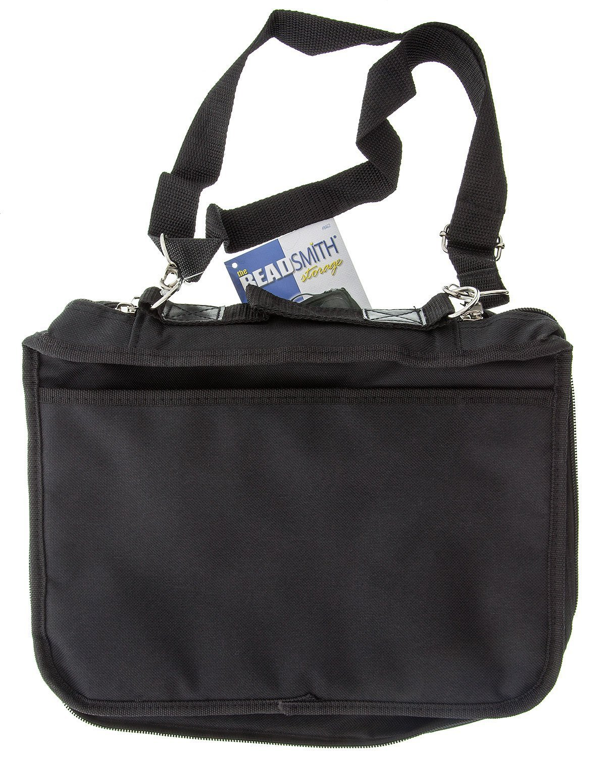 BeadSmith Black Crafter's Tote Bag, with 2 Removable Pockets and 23 Compartments 12x10 inch UK Shop