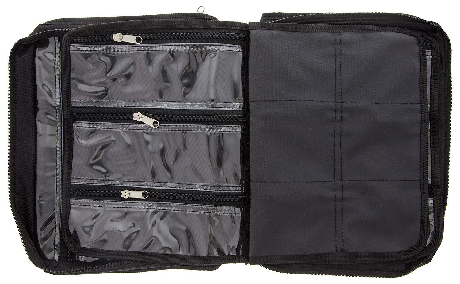 BeadSmith Black Crafter's Tote Bag, with 2 Removable Pockets and 23 Compartments 12x10 inch UK Shop d
