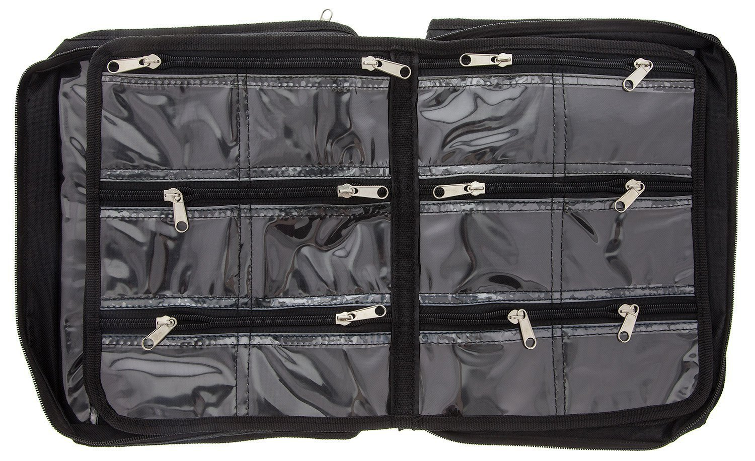 BeadSmith Black Crafter's Tote Bag, with 2 Removable Pockets and 23 Compartments 12x10 inch UK Shop e
