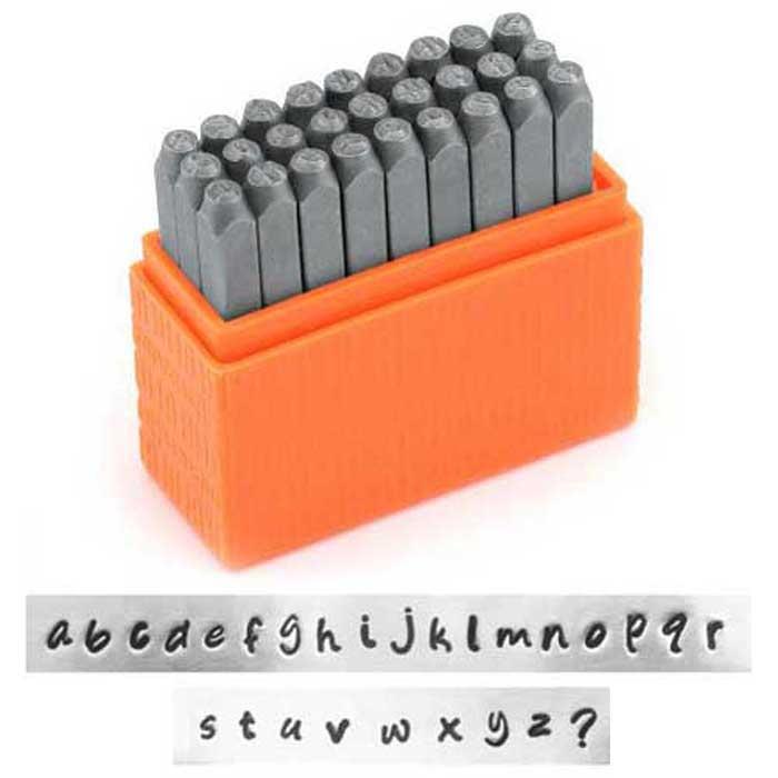 Bridgette Alphabet Lower Case Letter 3mm 1/8 Basic Stamping Set - ImpressArt