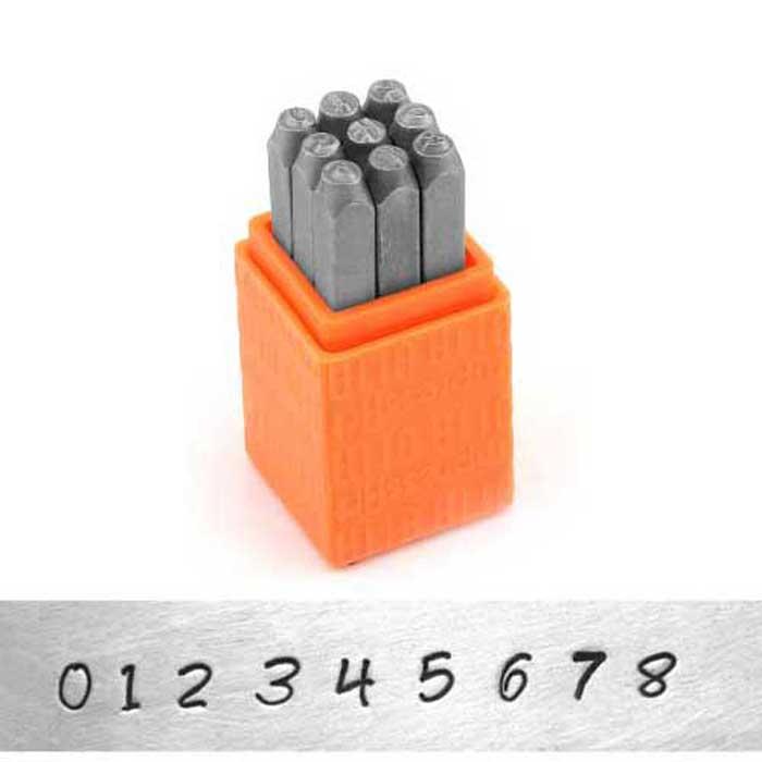 Bridgette Number 3mm 1/8 Basic Stamping Set - ImpressArt
