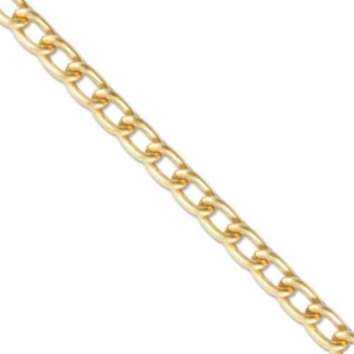Vintaj Vogue Solid Brass Curb Chain 3.4x5.1mm (open link) per half foot UK