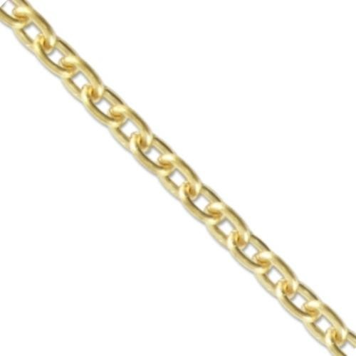 Vintaj Vogue Solid Brass Classic Cable Chain 3.3x4.4mm (open link) per half foot