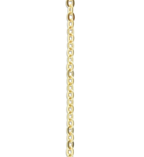 Vintaj Vogue Solid Brass Delicate Flat Oval Chain 2.2x3.0mm (soldered link) per half foot