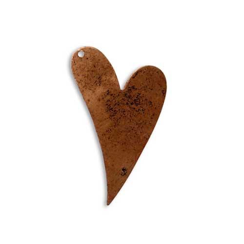 Vintaj Aristan Copper 40x25mm Heart Blank x1