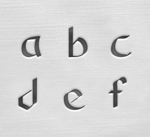 ImpressArt Celtic 3mm Alphabet Lower Case Letter Metal Stamping Set UK close