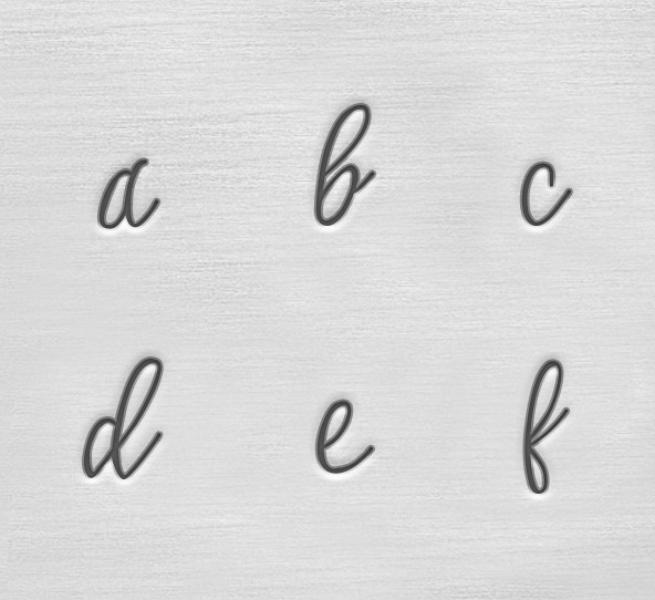 ImpressArt Charlotte 3mm Alphabet Lower Case Letter Metal Stamping Set Close