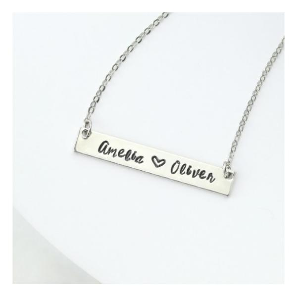 ImpressArt Charlotte 3mm Alphabet Lower Case Letter Metal Stamping Set Example