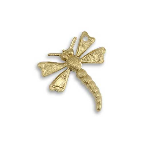 Vintaj Vogue Brass 18.5x20.5mm Flying West Dragonfly x1