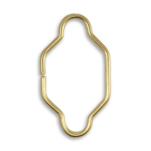 Vintaj Vogue Solid Brass 34.5x19.5mm Spanish Detail Split Connector x1 UK