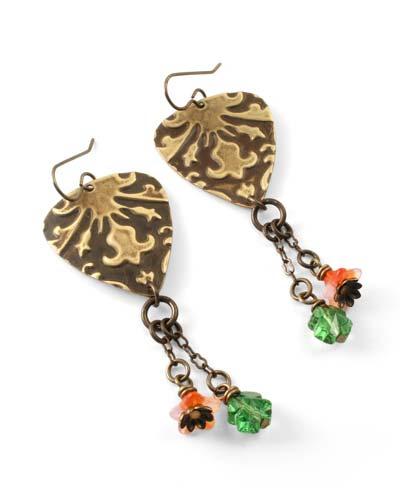 Vintaj Draped Lilies Earrings