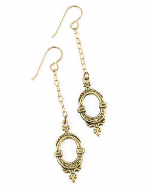 Vintaj Vogue Solid Brass Fine Ornate Chain 2.2x3.8mm (soldered link) per half foot example 1