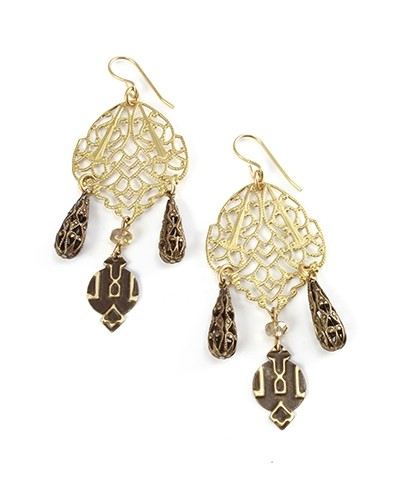 Vintaj Vogue Brass French 10x20mm Earhook Wires Example 5 UK