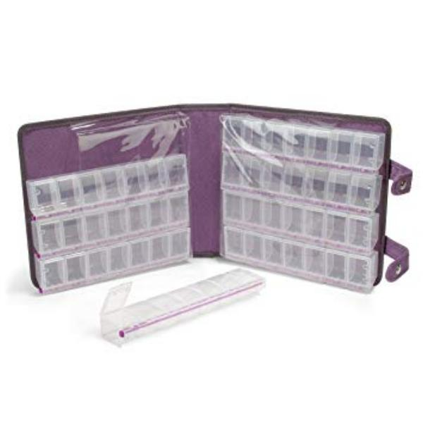 Craftmates Craft Mates Lockables Double Snappin Large Organizer Case 9 inch (24cm), Purple Ultrasuede inside