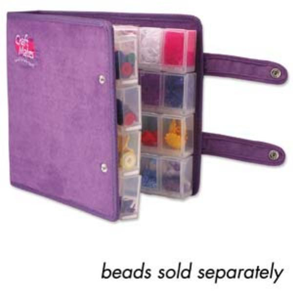 Craftmates Craft Mates Lockables Double Snappin Large Organizer Case 9 inch (24cm), Purple Ultrasuede