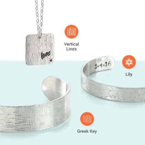 ImpressArt Ergo-Angle™ TEXTURE Metal Stamping Hammer Mallet close up patterns