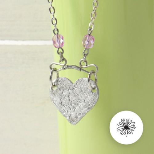 ImpressArt Ergo-Angle™ TEXTURE Metal Stamping Hammer close up necklace