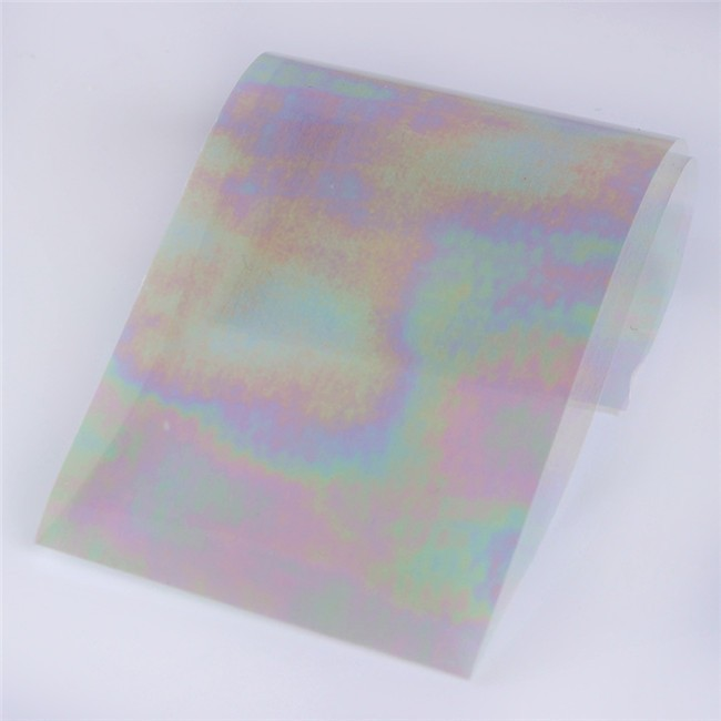 Rainbow Foil Transfer Sheets 4x160mm X12pc Uk