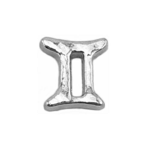 Floating Living Locket Charms, Silver Star Sign, Zodiac, Gemini UK