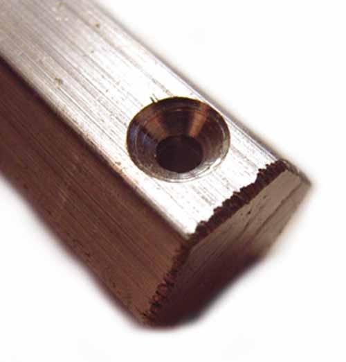 Countersunk Hole Aluminium Hex Bar