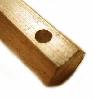 Standard Hole Brass Hex Bar