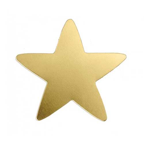 """Brass Star 1 3/4"""" 42mm 20g Stamping Blank x1"""