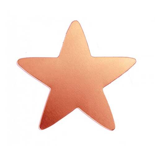 "Copper Star 1 3/4"" 42mm 20g Stamping Blank x1"