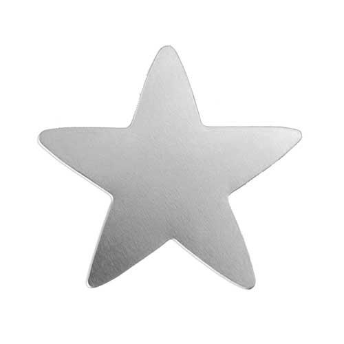"""Nickel Silver Star 1 3/4"""" 42mm 20g Stamping Blank x1"""