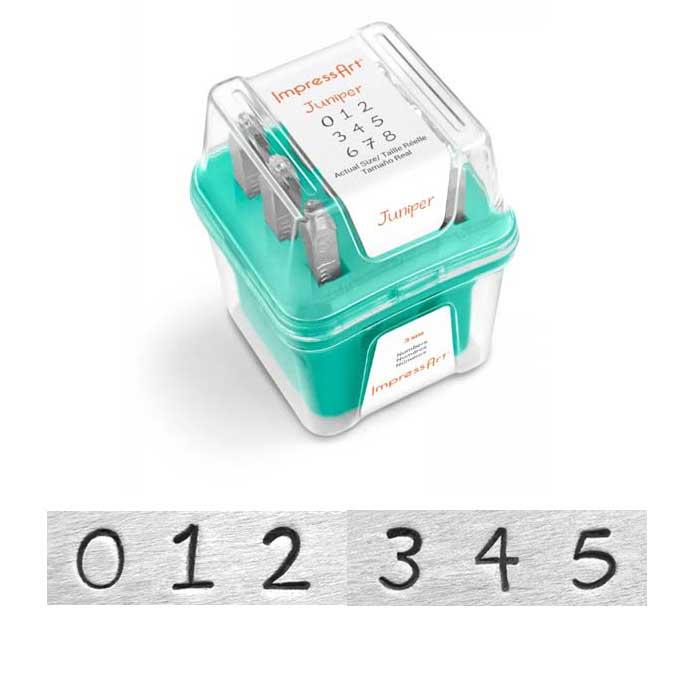 """3mm 1/8"""" Number Punch Set - Juniper - ImpressArt 1"""