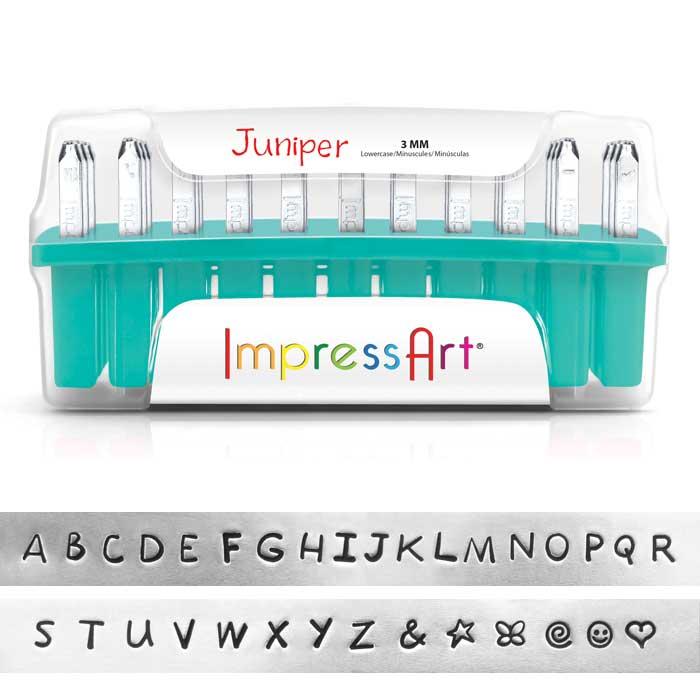 "3mm 1/8"" Alphabet Stamp Set - Juniper Upper Case - ImpressArt"