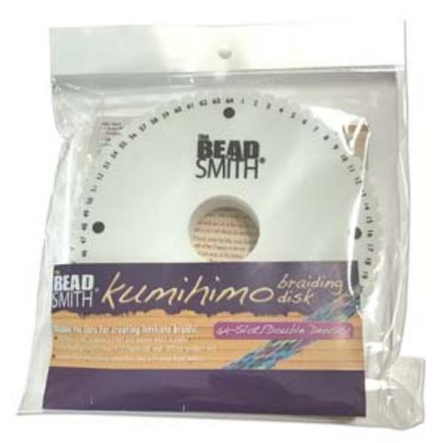 Beadsmith Kumihimo 64 slot Double Density 6 inch Round Braiding Disk Disc (with instruction) (NEW)