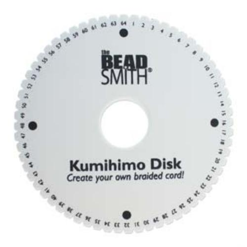Beadsmith Kumihimo 64-slot Double Density 6 inch Round Braiding Disk Disc (NEW)