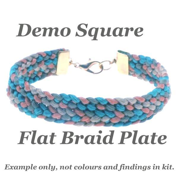 Beadsmith, Square Plate Kumihimo Flat Braiding Kit, Starter Pack