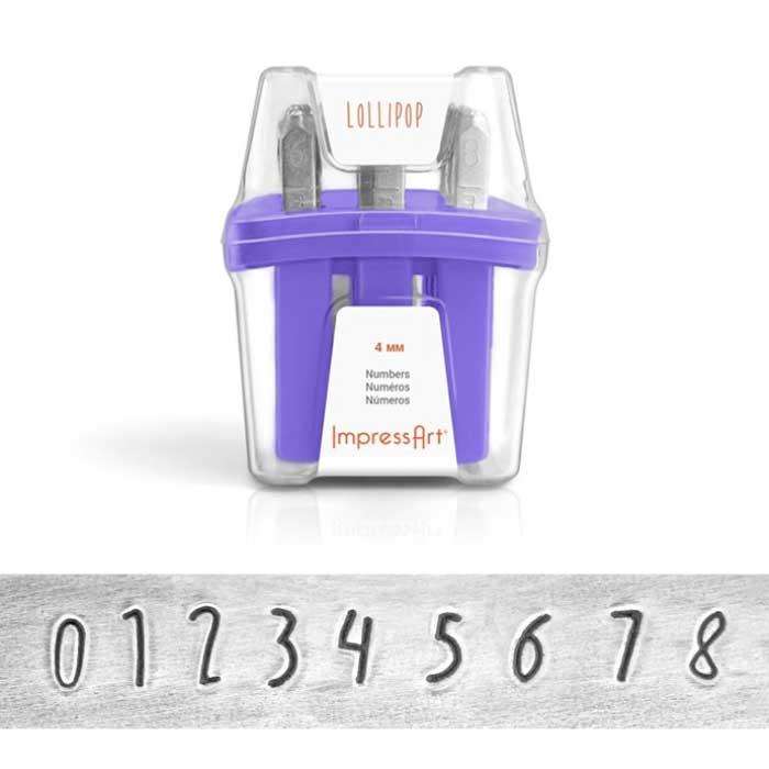 4mm Number Punch Set - Lollipop - ImpressArt 1
