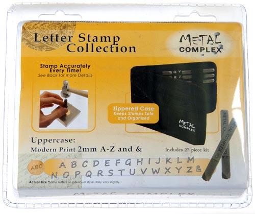 Metal Complex Stamps Modern Upper Case 2mm Font Alphabet Letter Metal Stamping Punch Set in Case x1